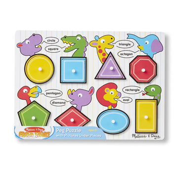 NEW Melissa & Doug Shapes Peg Puzzle