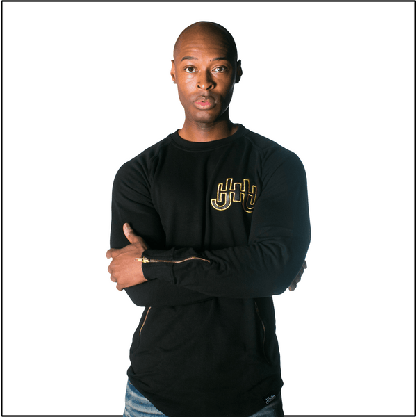 JH Leather Logo Sweatshirt-J.Hinton Collections