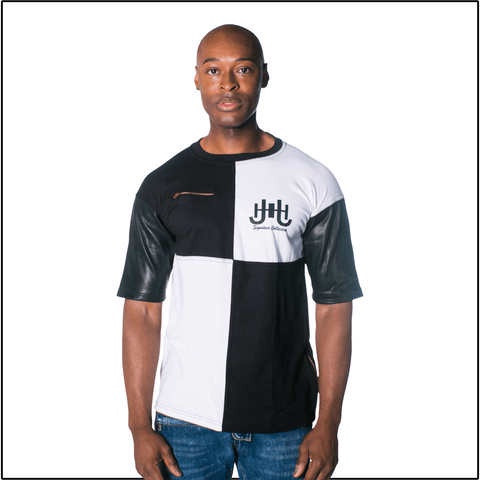 JH Signature Zipper Designer Tshirt-J.Hinton Collections