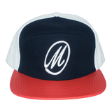 M Logo Leather Brim Strapback-J.Hinton Collections