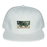 JHSC Leather Hat w/Gold Plate (White)-J.Hinton Collections