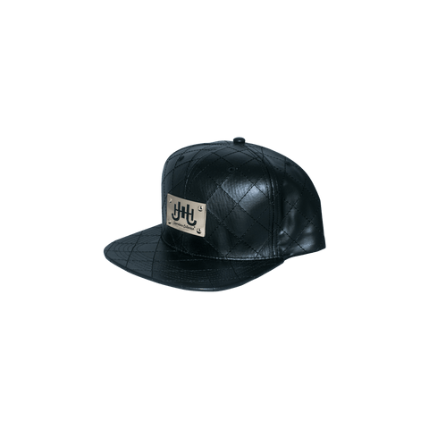 JHSC Leather Hat w/Gold Plate (black)