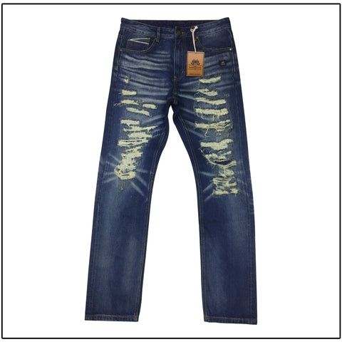 JH Embossed Denim Jeans-J.Hinton Collections