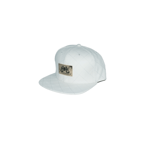 JHSC Leather Hat w/Gold Plate (White)