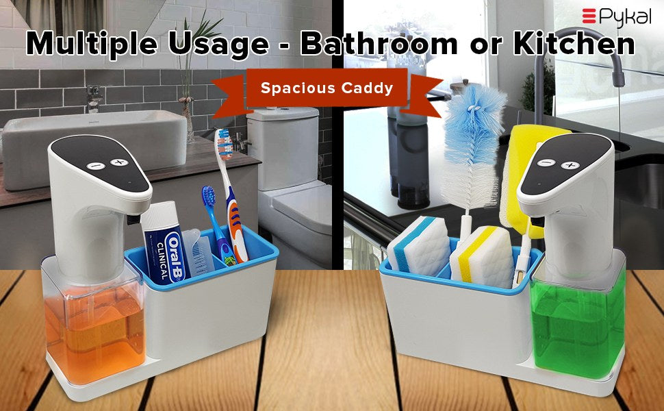 Automatic soap dispenser with caddy