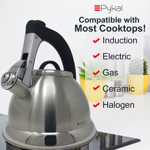 Image of compatible with most cooktops