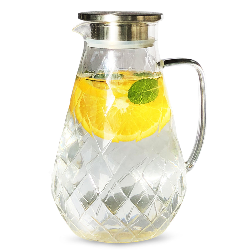glass pitcher diamond pattern