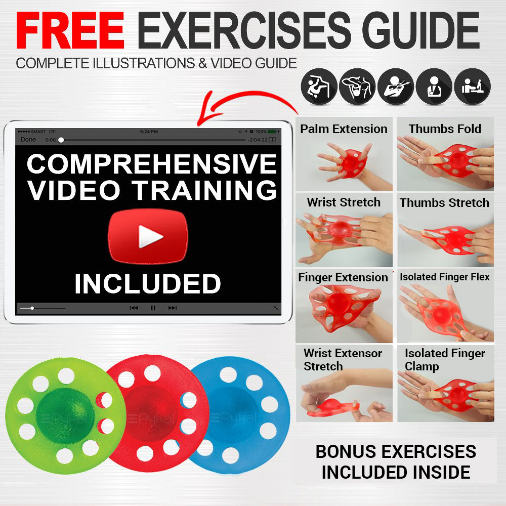 hand strengthener with free exercise guide