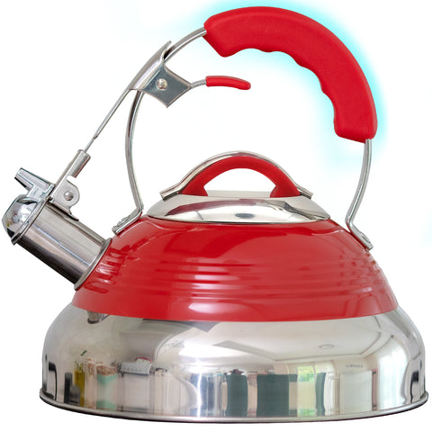 Image of Whistling Tea Kettle - Red Hotness (2.8 QT/2.65 L)