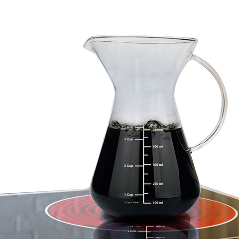 pour over coffee maker on stove top