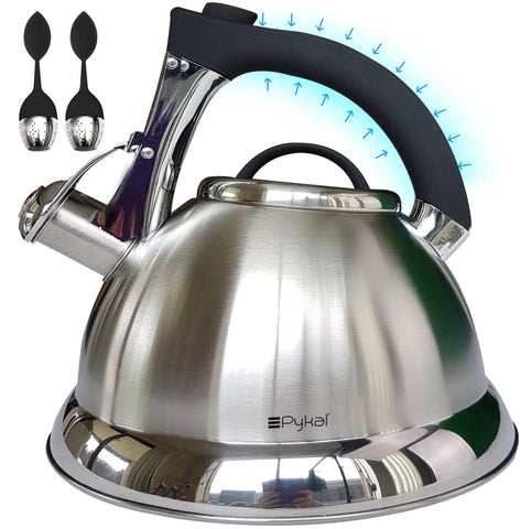whistling kettle with iCool handle