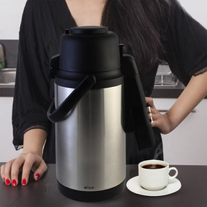 Splashproof Airpot Thermal Coffee Carafe Dispenser 120 oz (3.5 L)