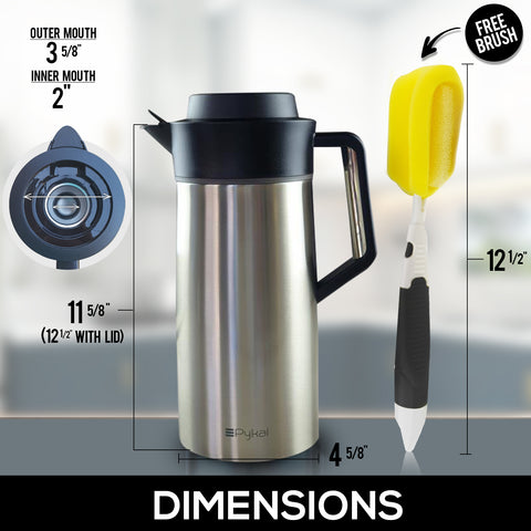 Image of carafe dimensions