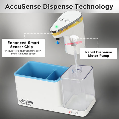Image of features of automatic soap dispenser