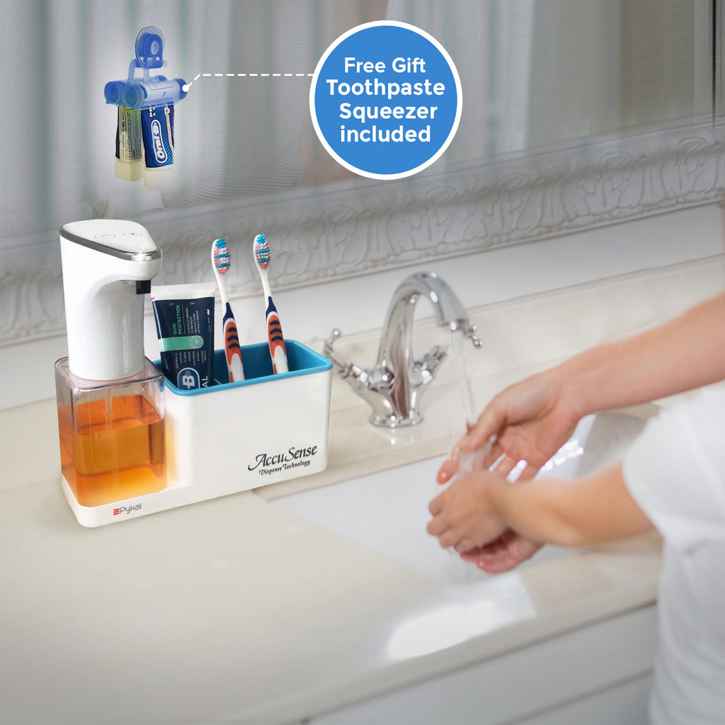 soap dispenser with free toothpaste squeezer