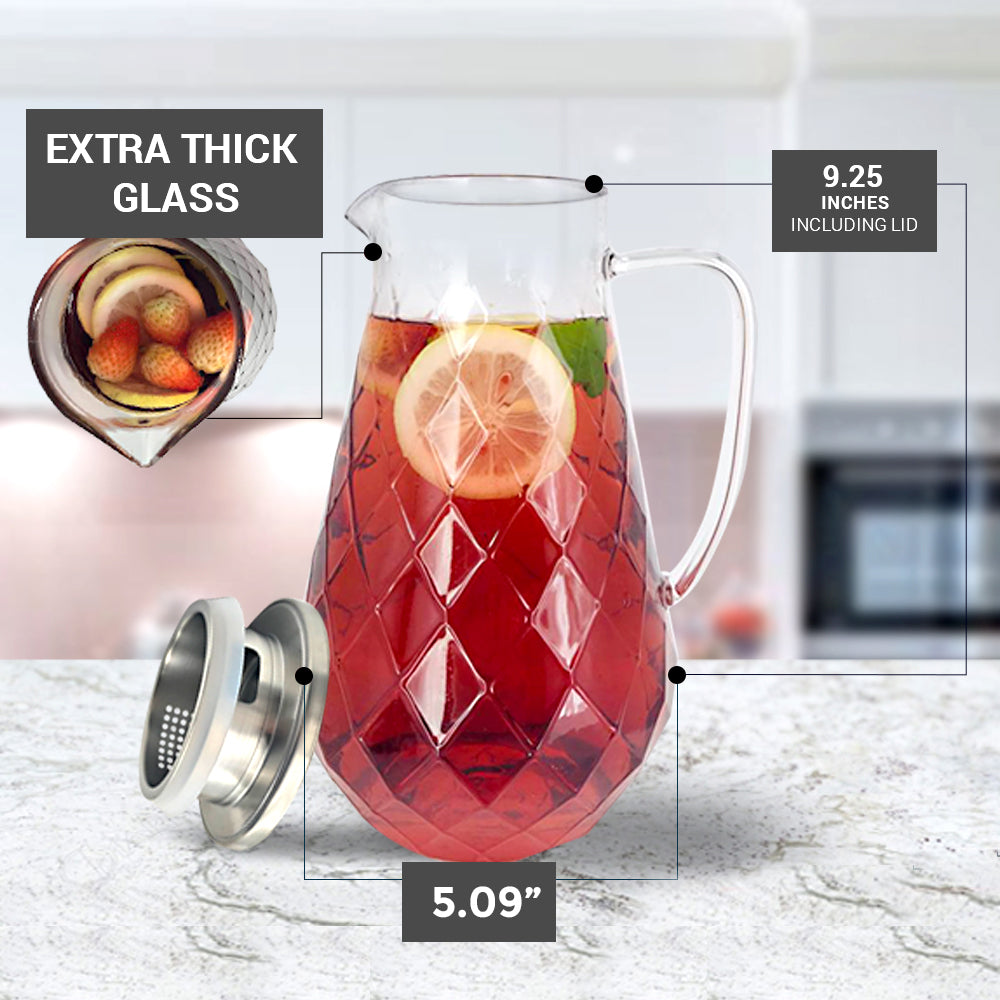 glass pitcher dimensions