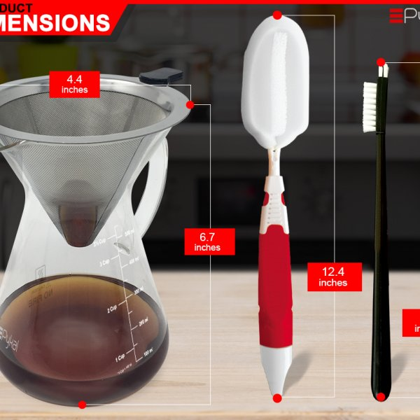Pour Over Coffee Maker dimensions