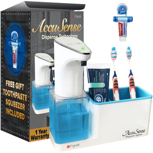 Accusense Automatic Soap Dispenser with Toothpaste Dispenser (450 mL)