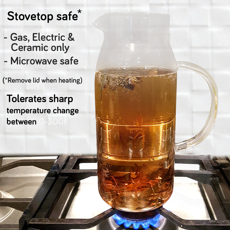 stovetop safe glass pitcher