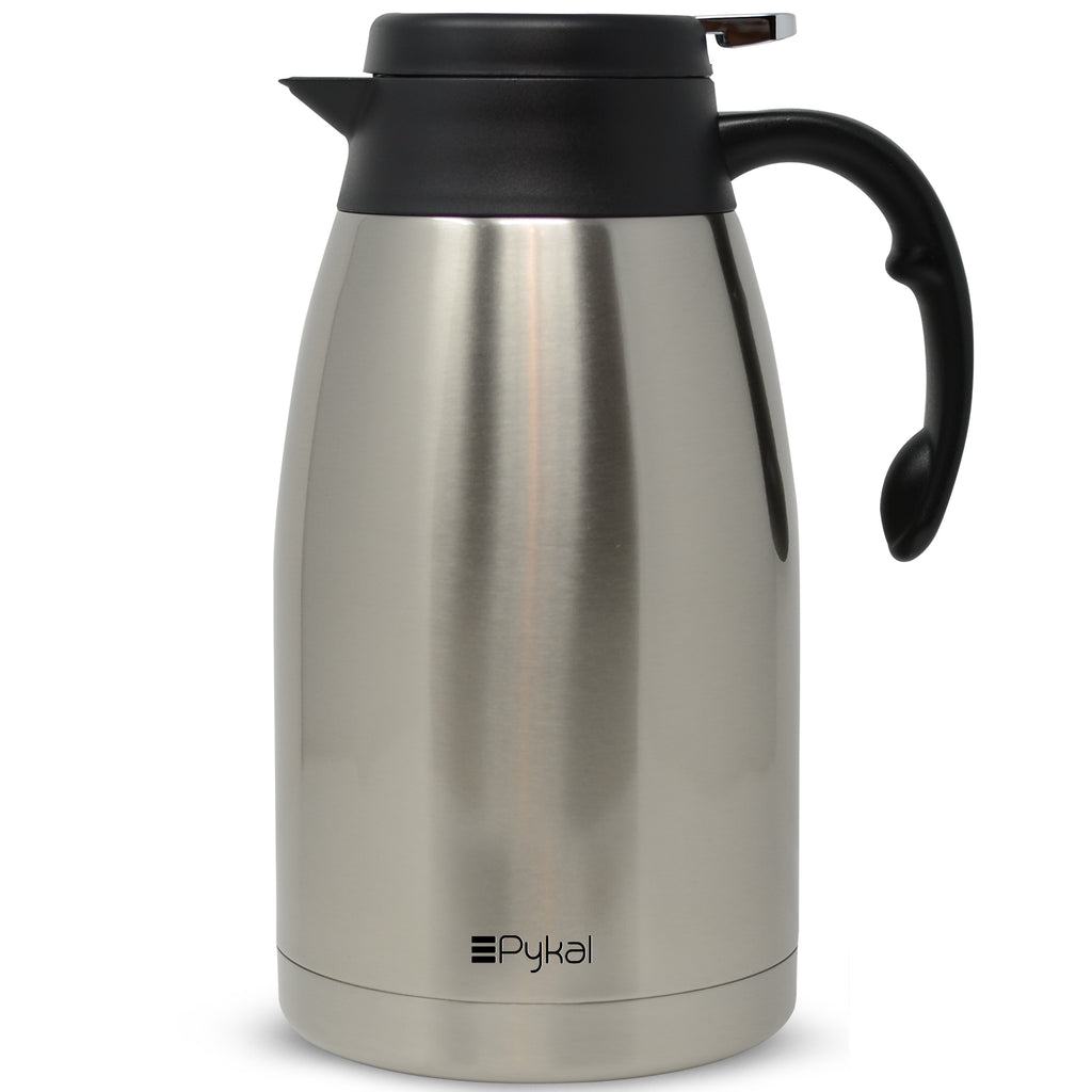 thermal coffee carafe with push button