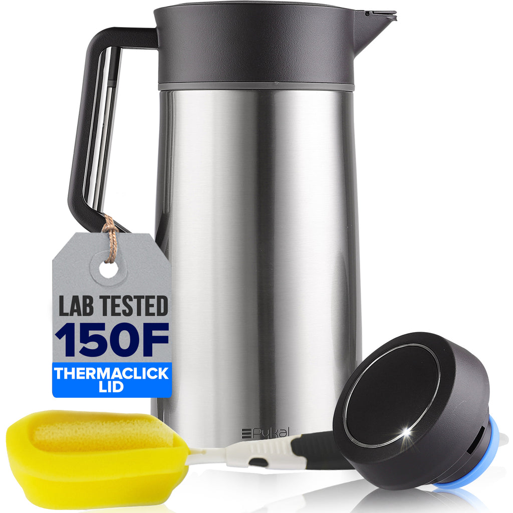 thermal coffee carafe with thermaclick lid