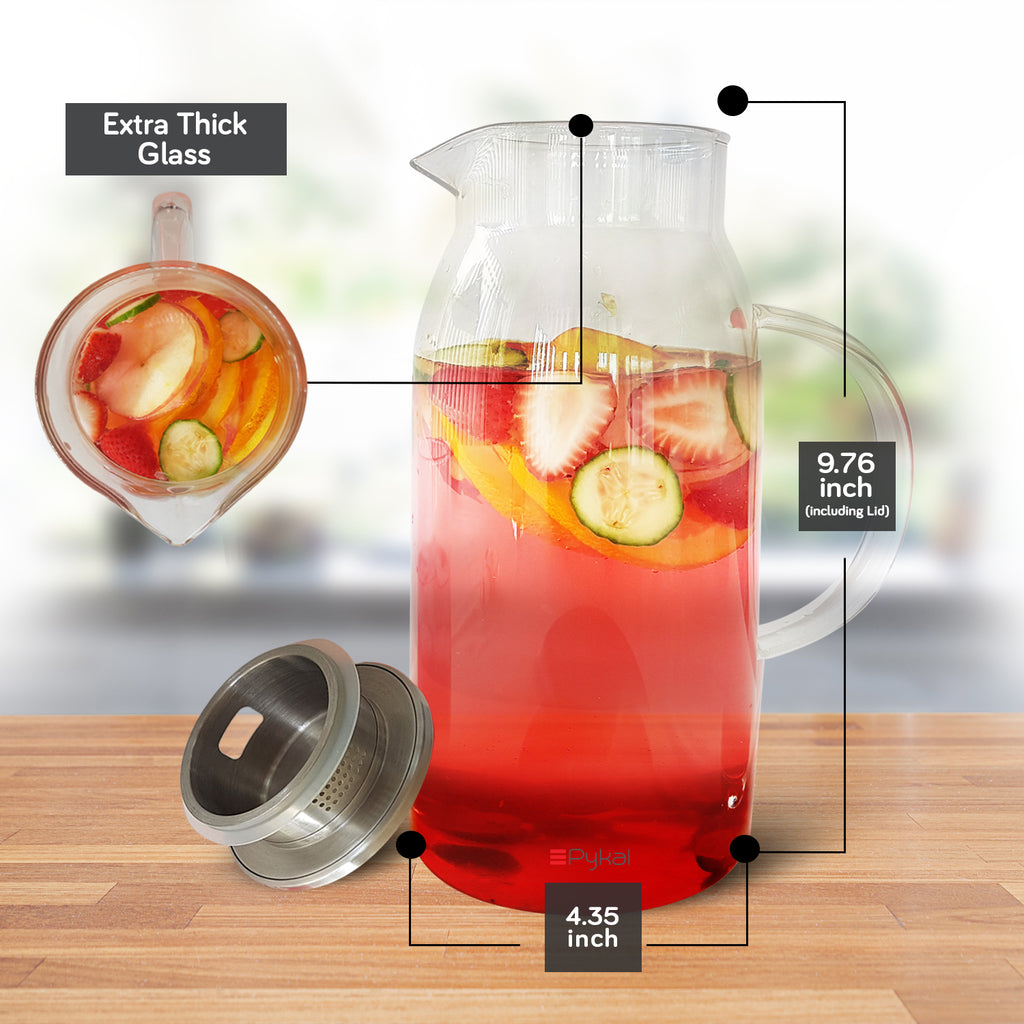 extra thick glass pitcher