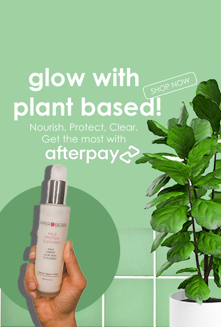 Plant based skincare , Healthy, glowing, radiant natural skin