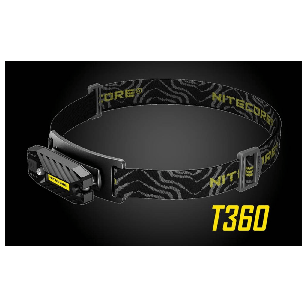 Nitecore T360 Headlamp in Black Background
