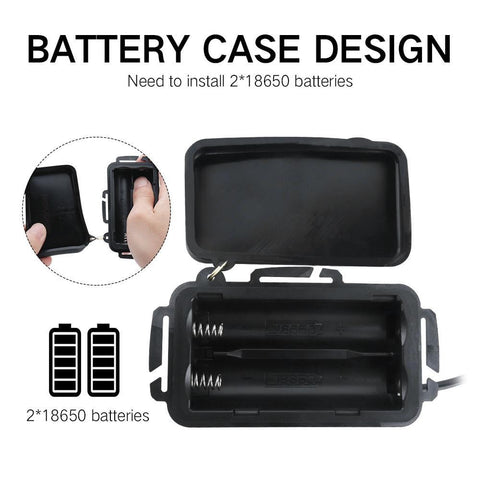 Image of Boruit RJ3000 Headlamp Battery Case Design