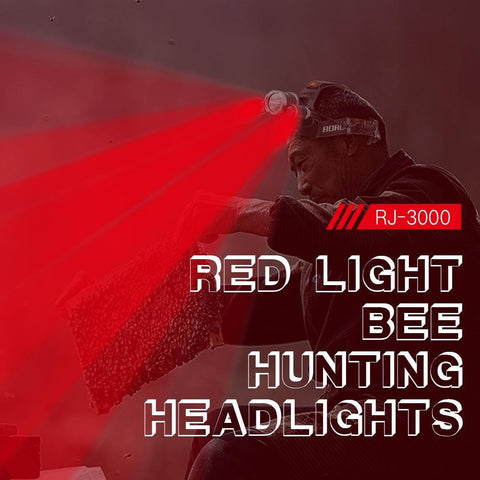 Boruit RJ3000 Red Light Bee Hunting Headlights