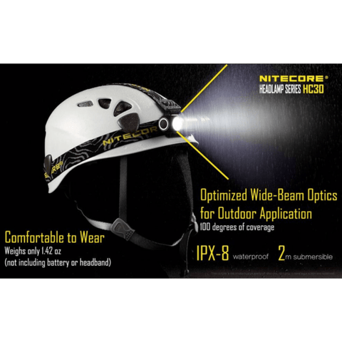 Image of Nitecore HC30 Headlamp Comfortable to wear, Optimized wide-beam optics for outdooor