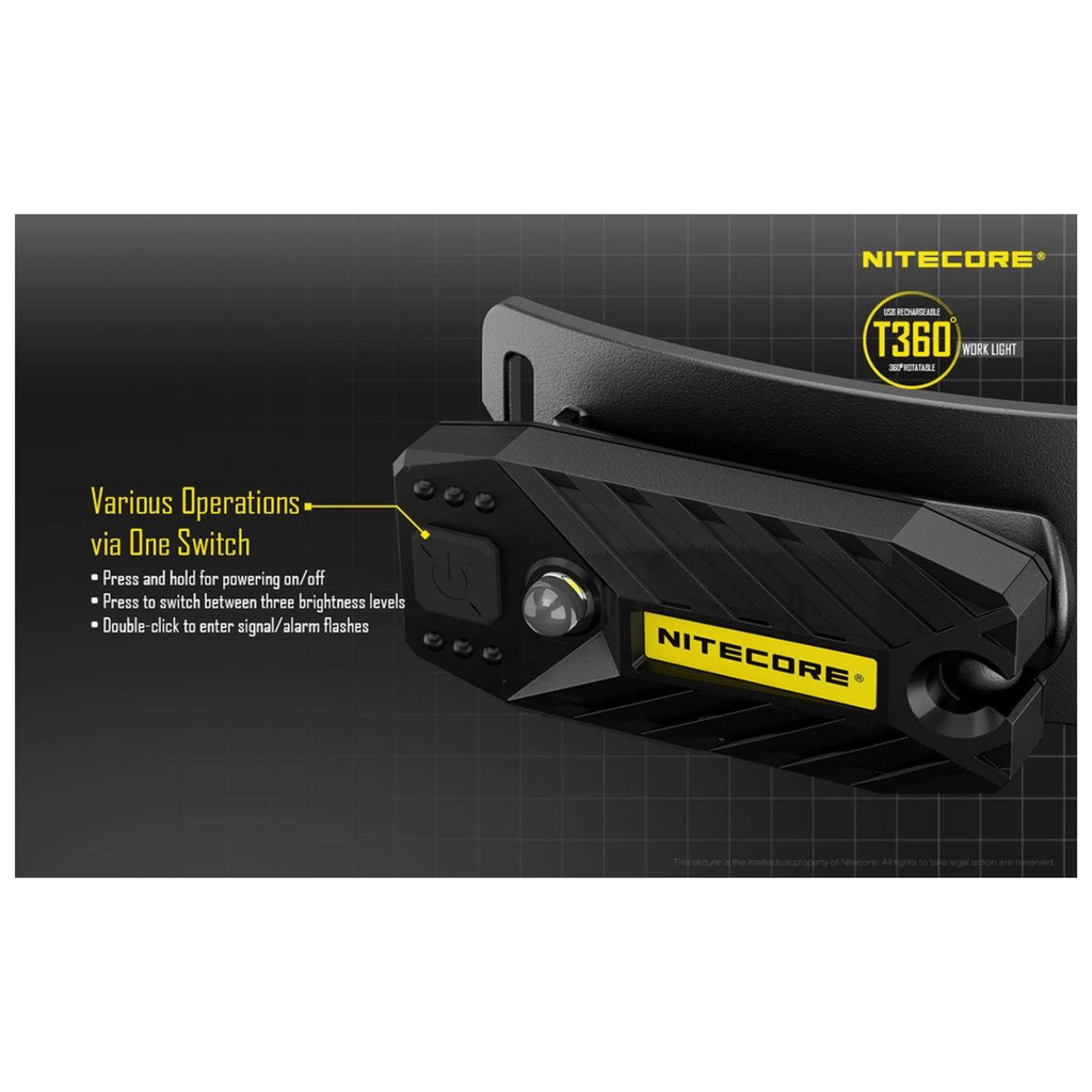 Nitecore T360 Headlamp One Switch Operation