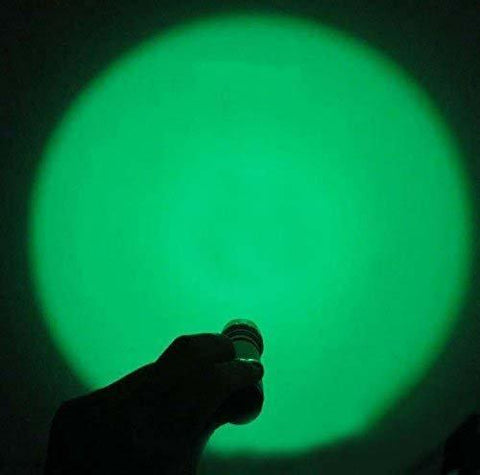 Image of Green Flashlight On with Wide Range
