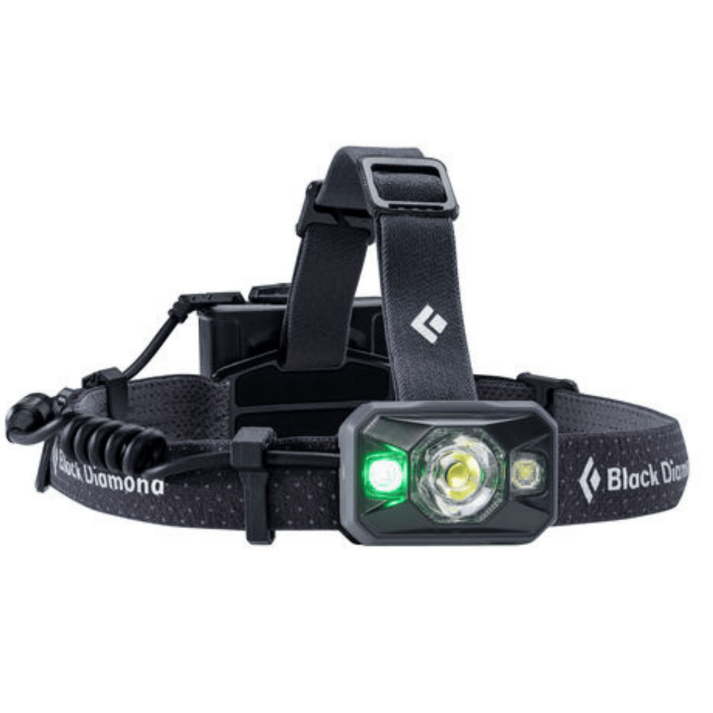 """Black Diamond Icon Black Headlamp with Green Light"""