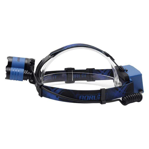 Image of Boruit B22 Blue and White  Headlamp side view