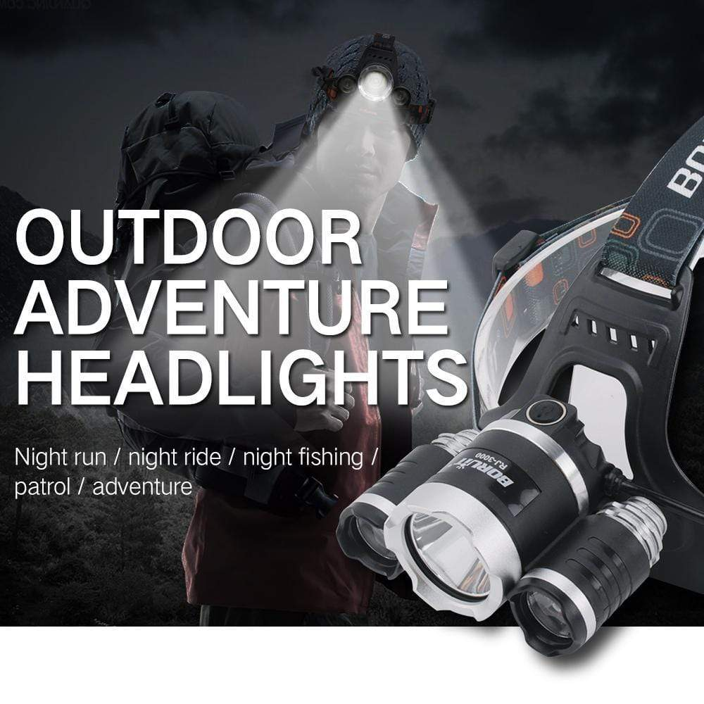 Boruit RJ3000 Outdoor Adventure Headlights
