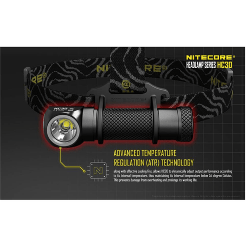 Nitecore HC30 Headlamp Advanced Temperature Regulation Technology
