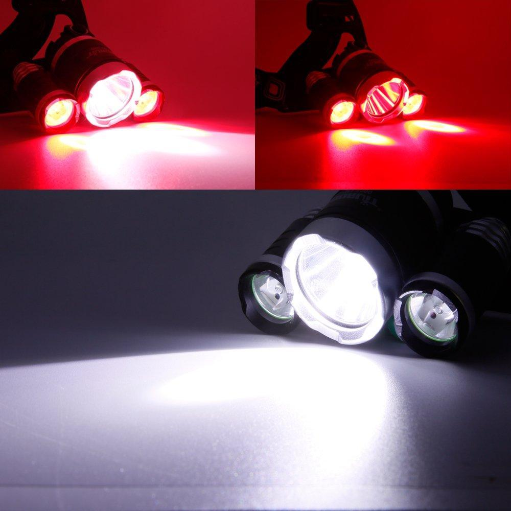 """Boruit 1155 RED and White Headlamp"""