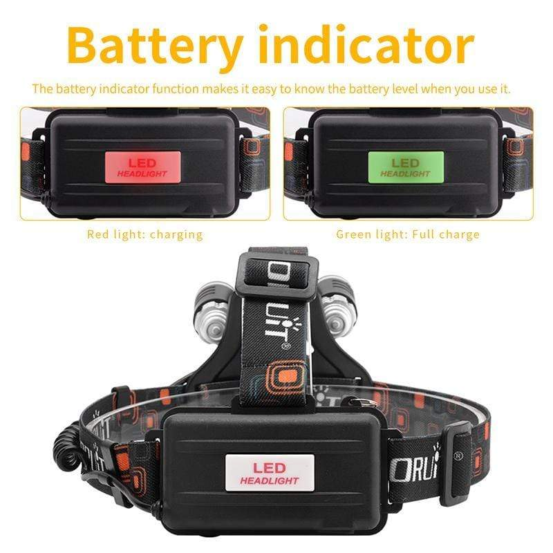 'Boruit 1155 Headlamp Battery Indicator""