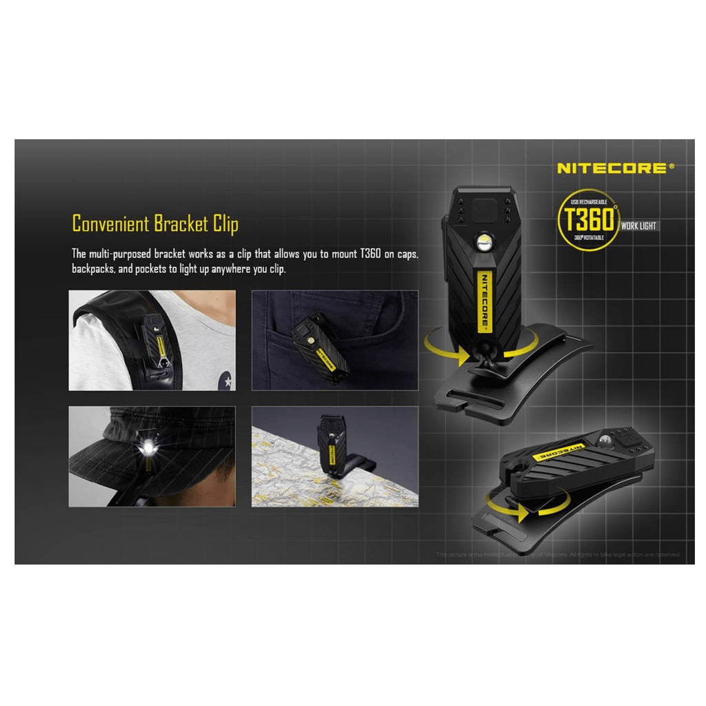 Nitecore T360 Headlamp Convenient Bracket Clip