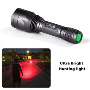 Superbright Red Hunting Flashlight by UltraFire