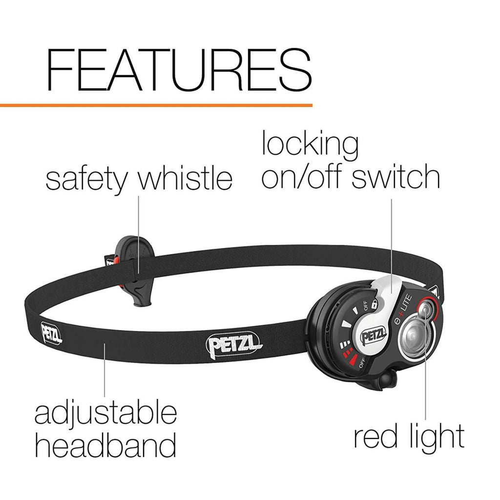 PETZL e+LITE Headlamp Features