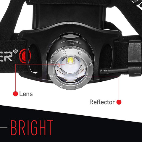 LED Lenser H7.2 Headlamp Bright Lens and Reflector