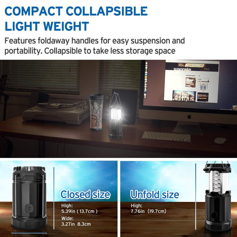 Etekcity LED Lantern Compact, Collapsible and Light Weight