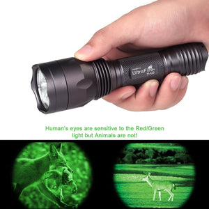 Superbright Green Hunting Flashlight by UltraFire