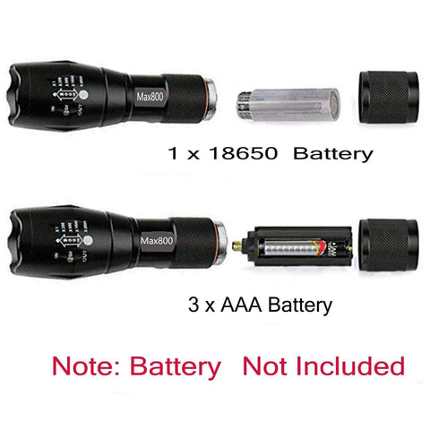 Image of Tactical Ultrabright Flashlight by Miuree (2 included)