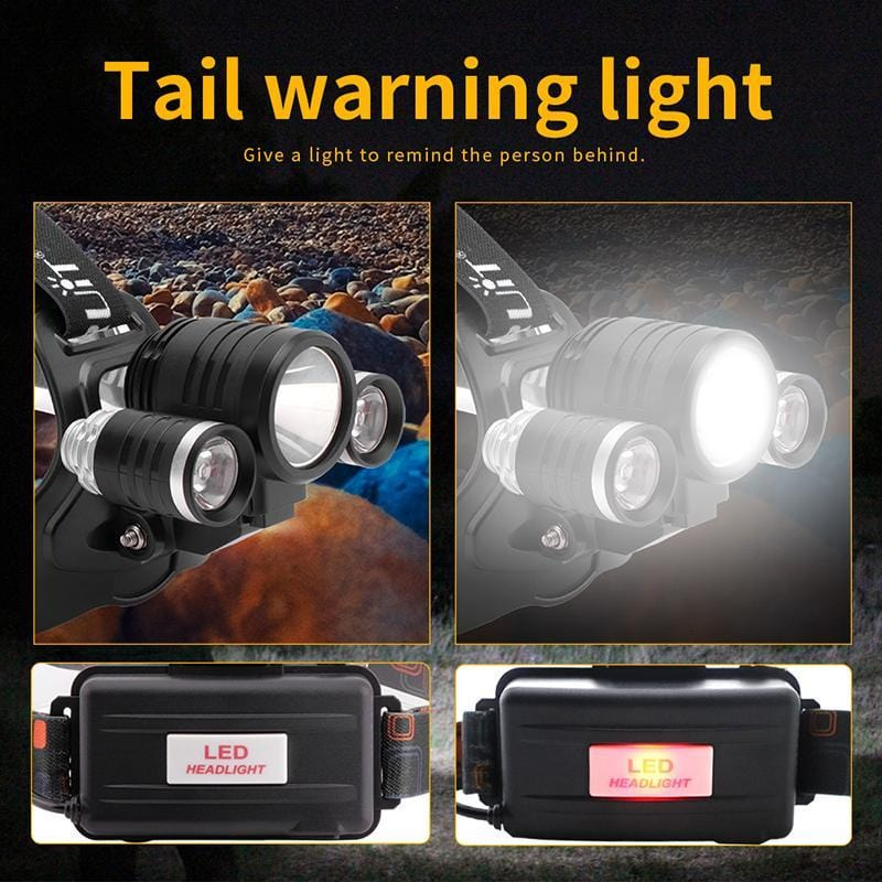 'Boruit 1155 Headlamp Tail Warning Light""