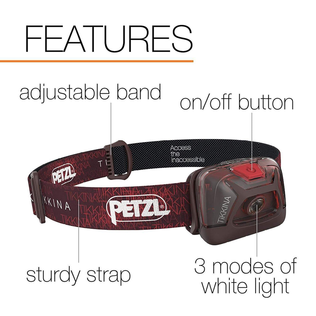 PETZL TIKKINA Tactical LED Headlamp Features