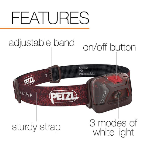 Image of PETZL TIKKINA Tactical LED Headlamp Features