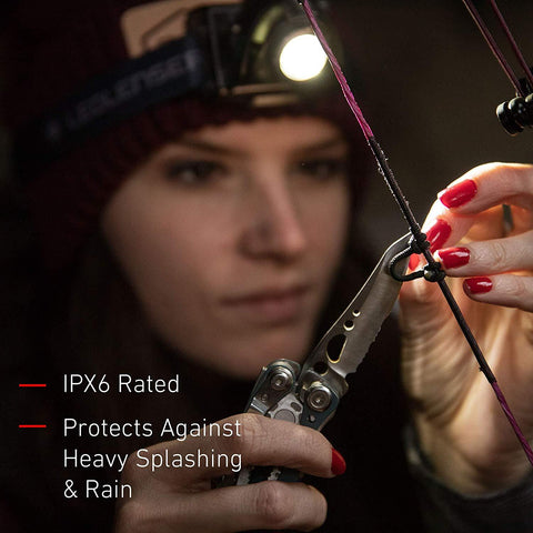 LED Lenser MH2 LED Headlamp IPX6 Rated, Protects Against Heavy Splashing and Rain